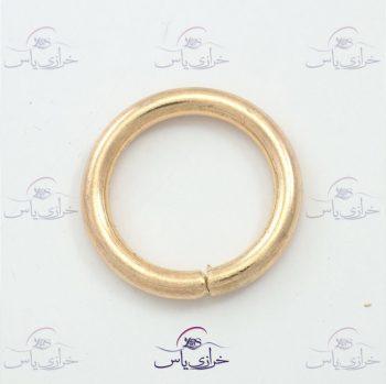 حلقه ۲/۵ طلایی ضخیم و رنگ ثابت قیمت #حلقه کد 301