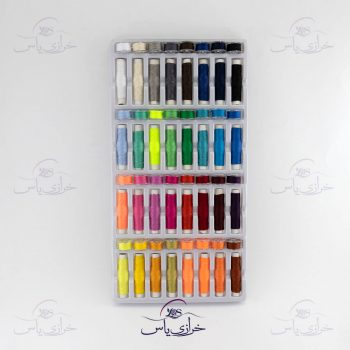 پک ۳۲ عددی نخ قرقره به همراه ۳۲ عدد ماسوره در ۳۲ رنگ