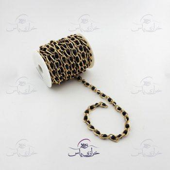 زنجیر طلایی مروارید مشکی بزرگ
