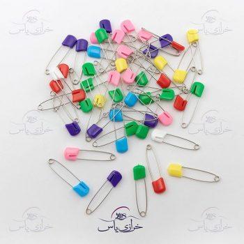 سنجاق قفلی سر پلاستیکی در دوسایز
