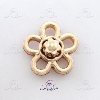 قفل بزرگ گل طلایی کد 721